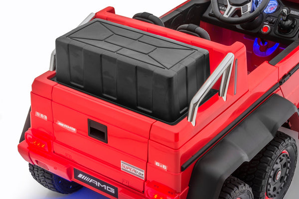 Mercedes G63 Electric Ride on Car 6x6 Jeep with Remote Control - Red - 6 wheels Drive