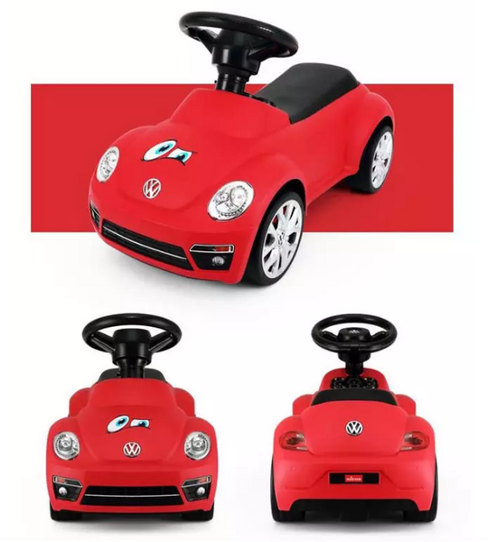 85700 Rastar Volkswagen Beetle Foot to Floor Kids Ride on Car - Red