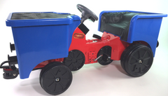 Pedal Coal Truck add on for Little Play Train Engine - Blue