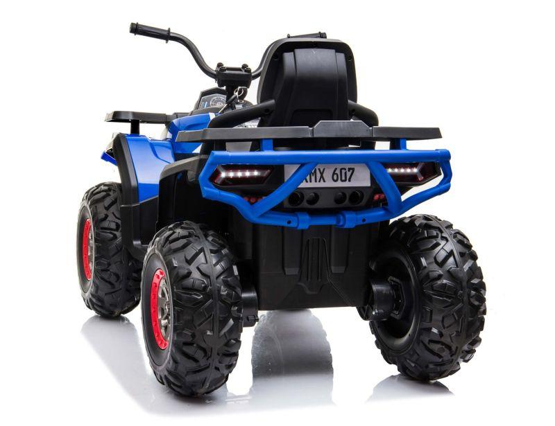 XMX607 Desert ATV 12V Electric Ride on Quad Bike with Remote - Blue