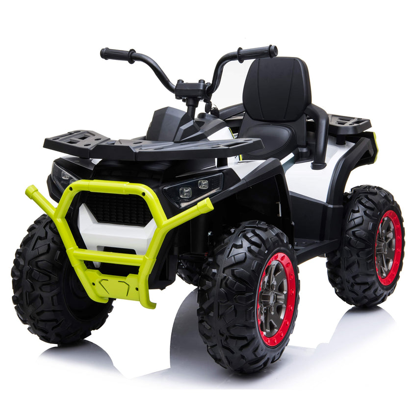 XMX607 Desert ATV 12V Electric Ride on Quad Bike with Remote - White