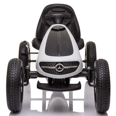 Licensed Mercedes Children's Ride On Pedal Go Kart - White