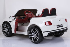 Licensed Bentley Continental Sports 12v Kids Electric Ride On Car - White