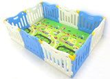 Spacious Baby Care FunZone Playpen - Sky Blue