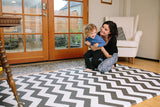 Baby Care Playmat - Zig Zag Black