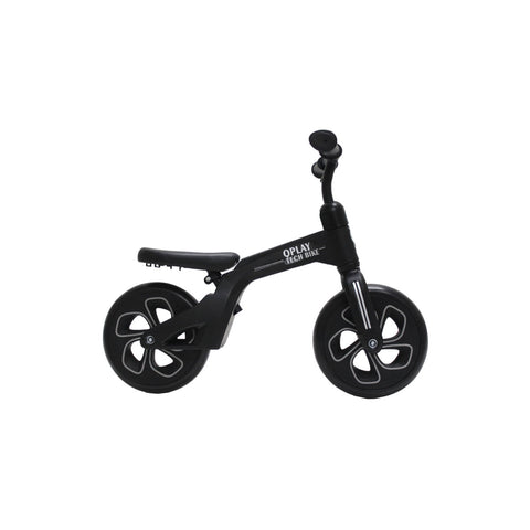 Balance Bicycle for Kids - Q Play Balance Bike - Black