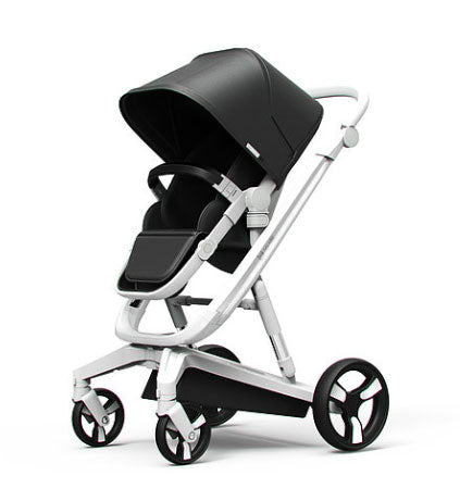 Milkbe Self-Stopping Lullaby Stroller - Auto Braking Stroller - Black
