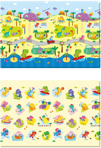 Baby Care Play mat - Dino Sports - Medium Front and Back
