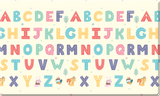 Reversible Dwinguler Playmat with Alphabet - Rainy Day - Large