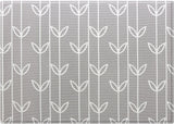 Baby Care Playmat - Sea Petals Grey - Medium