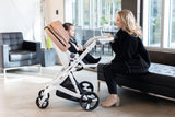 Stylish Milkbe Self-Stopping Lullaby Stroller - Auto Braking Stroller