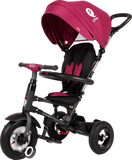 Folding Rito Stroller / Kids Trike - Burgundy - transforming smart tricycle for kids