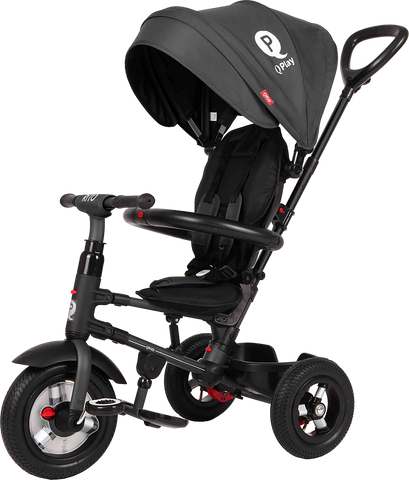 Folding Rito Stroller / Kids Trike - Black - transforming smart tricycle for kids