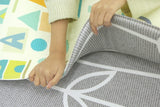 Reversible Baby Care Playmat - Sea Petals Grey - Medium