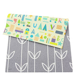 Soft Baby Care Playmat - Sea Petals Grey