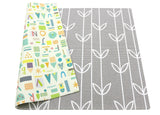 Soft Baby Care Playmat - Sea Petals Grey - Medium