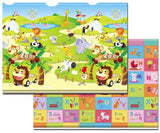 Reversible Dwinguler Baby Playmat - Zoo - Alphabet on the Reverse Side
