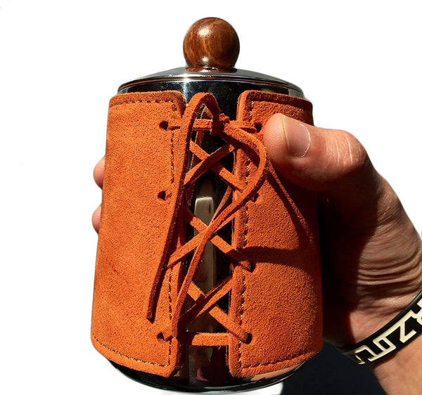 Kettle With Leather Wrapped