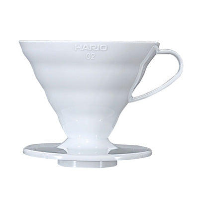 Coffee Dripper V60 02 White plastic