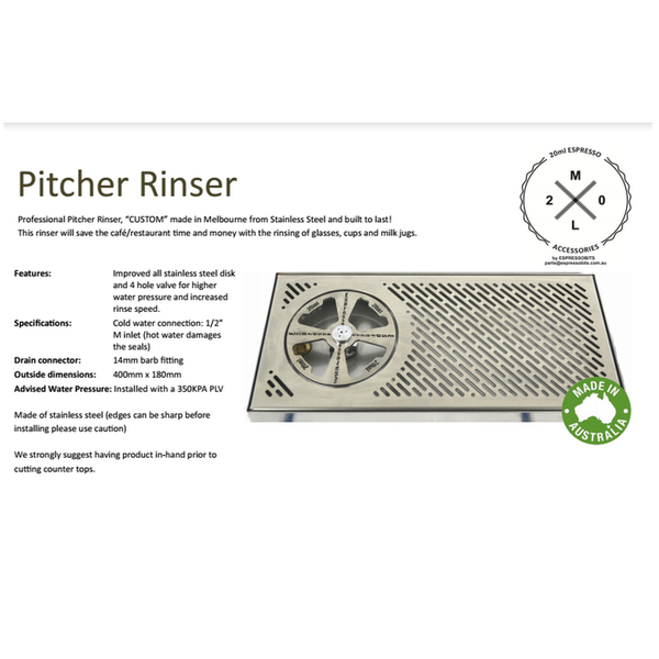 PITCHER RINSER COUNTER LONG TRAY