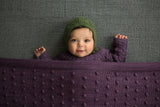 Bobble Knitted Baby Blanket - Plant Dyed