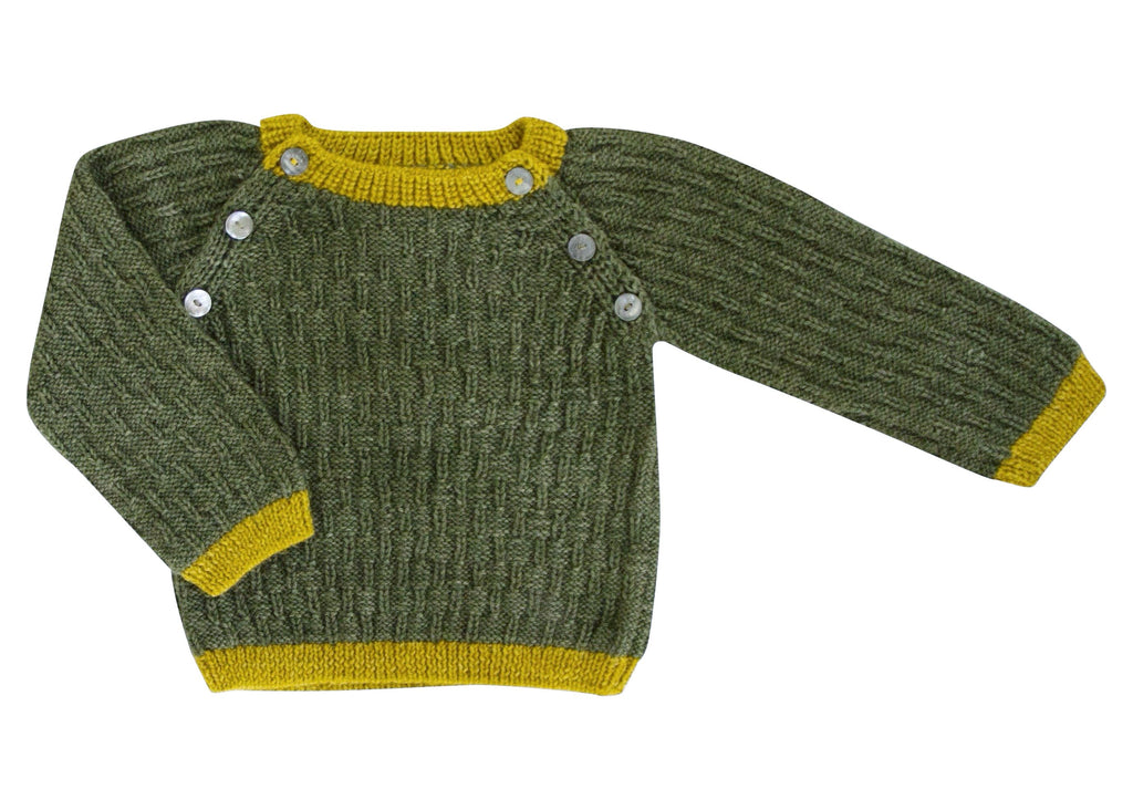 Caterpillar Sweater - Green/ Yellow
