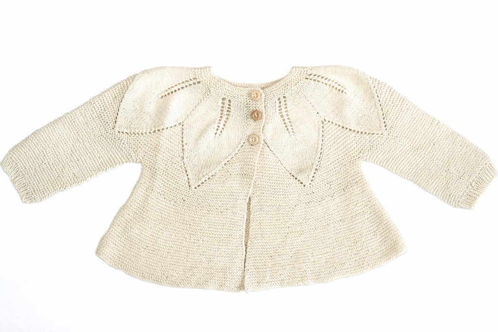 Leaf Cardigan Cream