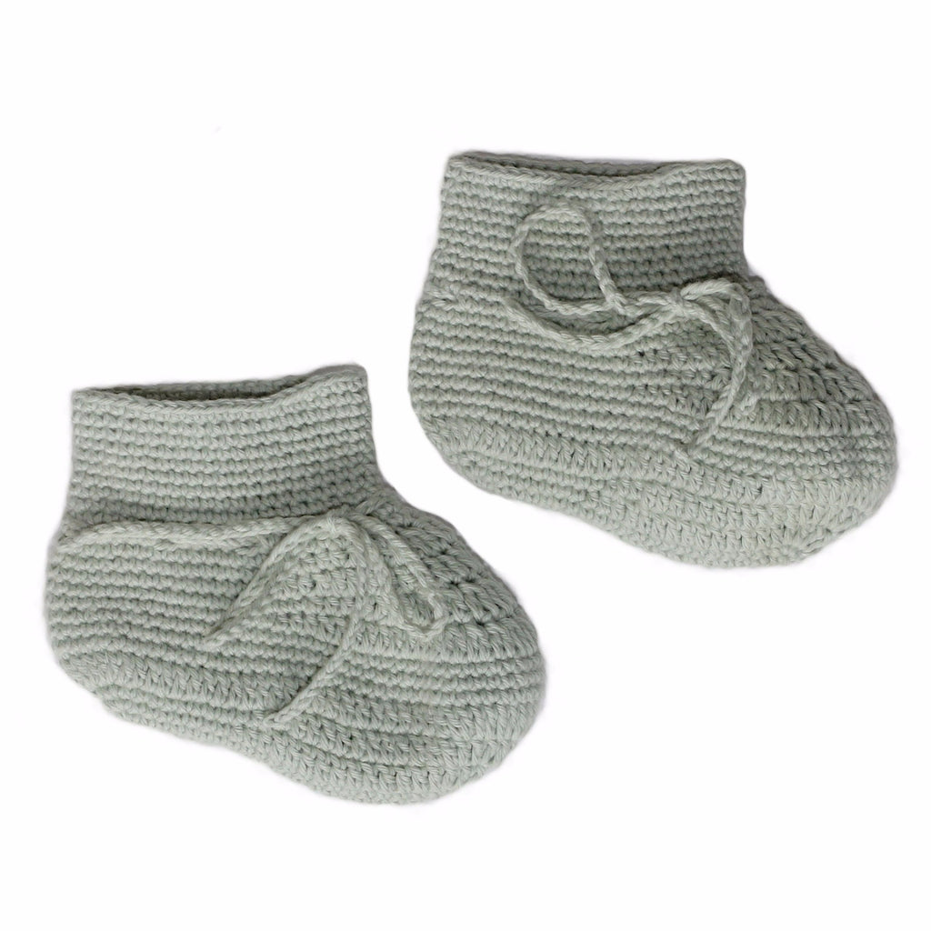Crochet Booties Sea Foam