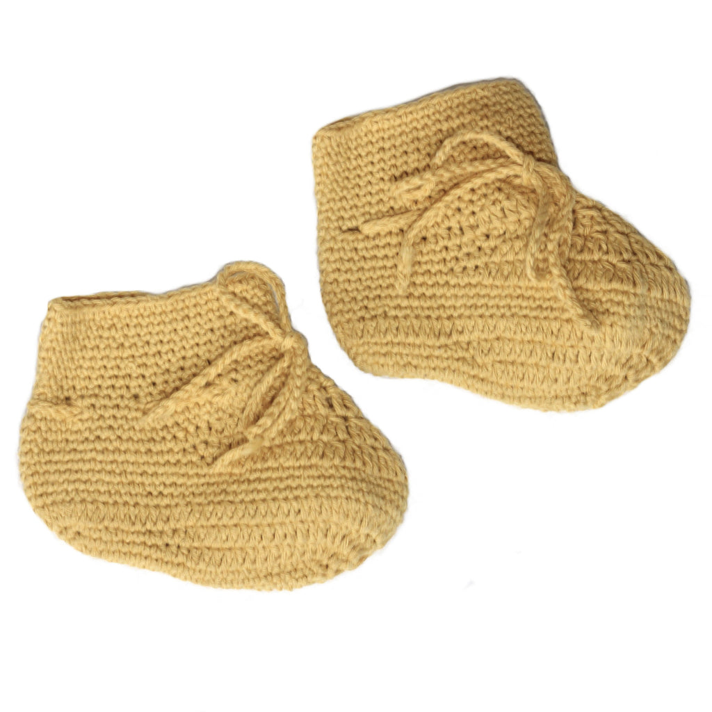 Crochet Booties Yellow