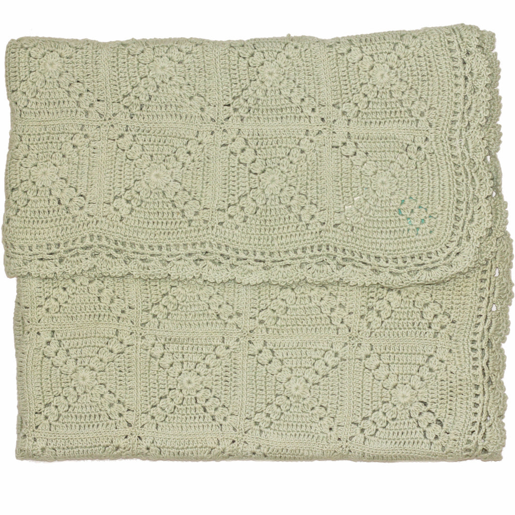 Granny Square Blanket Sea Foam