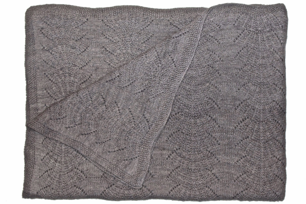 Large Seashell Blanket/ Light Taupe