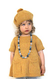 Adele Knitted Girl Dress - Amber Yellow