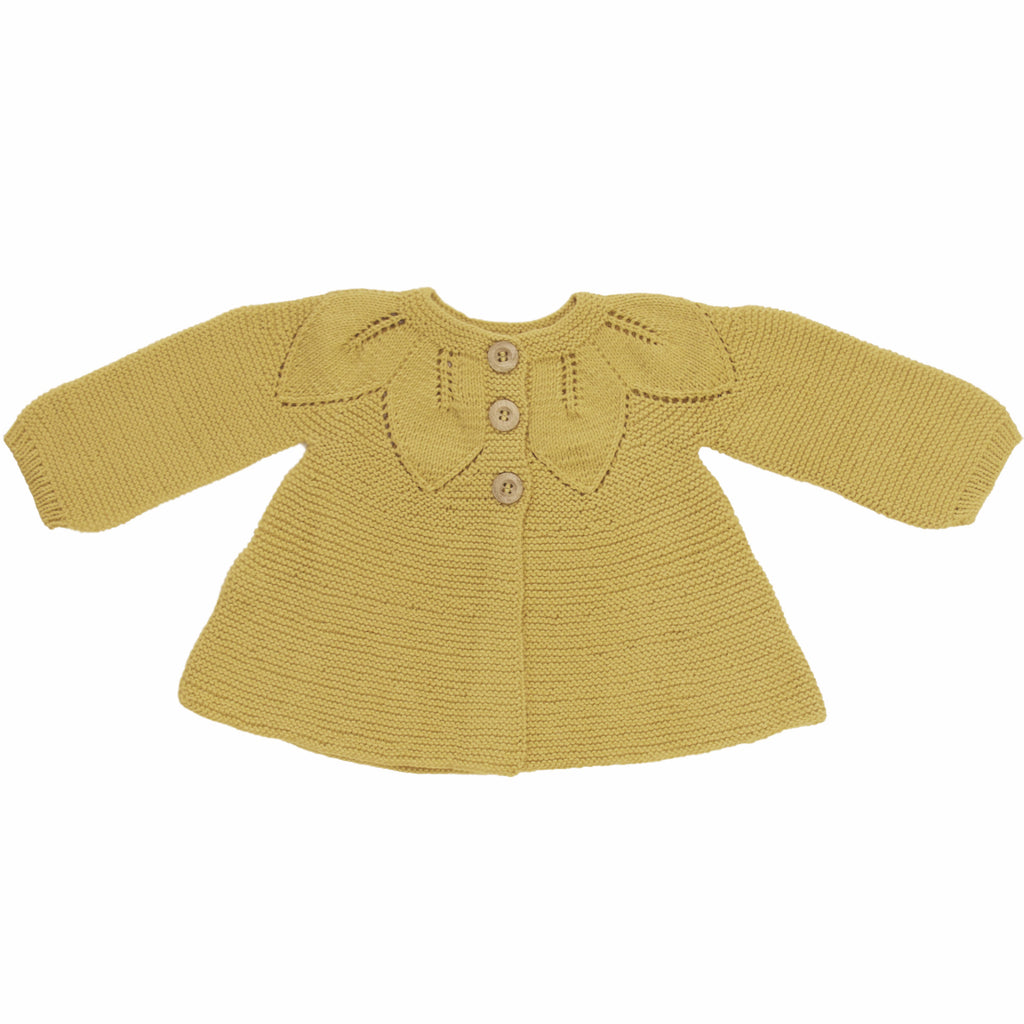 Leaf Cardigan Yellow