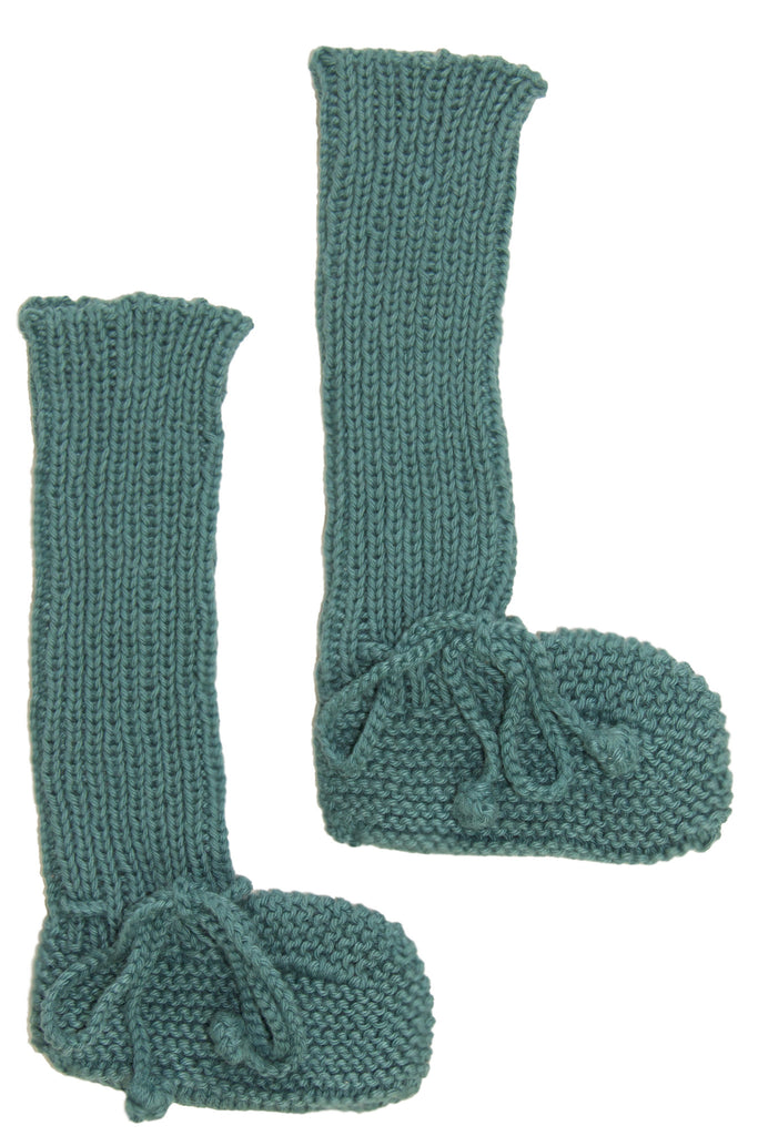 Long Cotton Booties Teal
