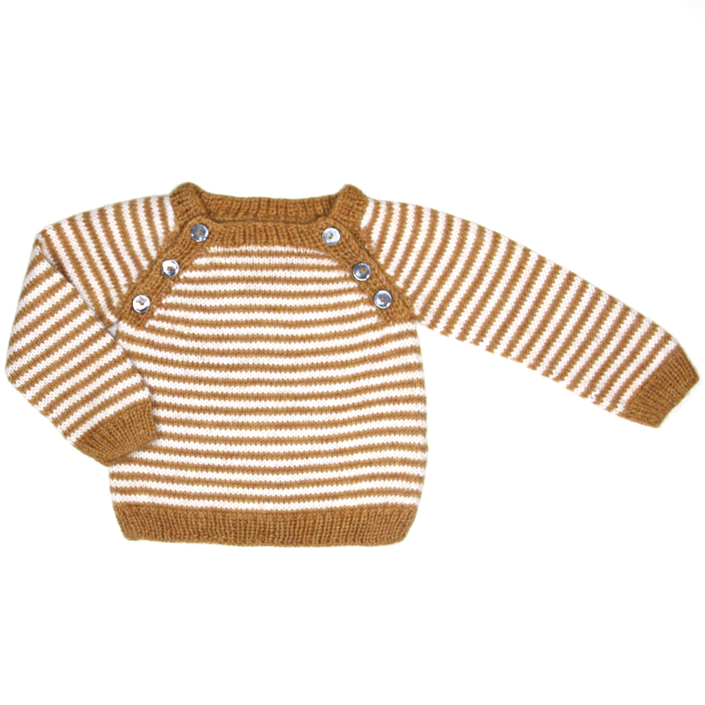 Oscar Sweater -  Amber Yellow/ Cream