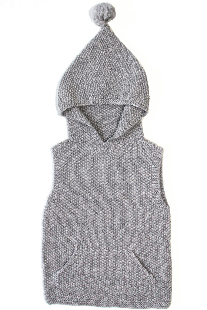 Sleeveless Sweater - Cloud Grey