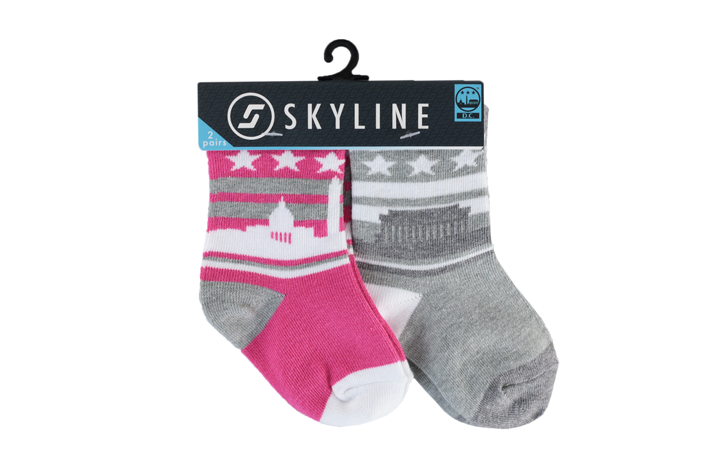 WAS MINIS | 2-PACK | PINK - Skyline Socks