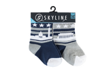 WAS MINIS | 2-PACK | CAMPUS - Skyline Socks