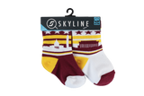 WAS MINIS | 2-PACK | GRIDIRON - Skyline Socks