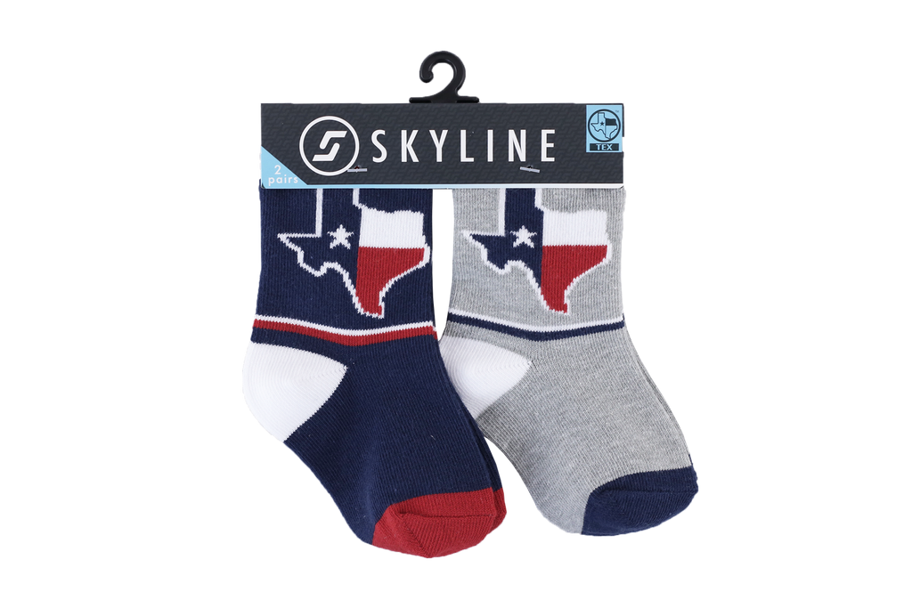 TEXAS MINIS | 2-PACK - Skyline Socks
