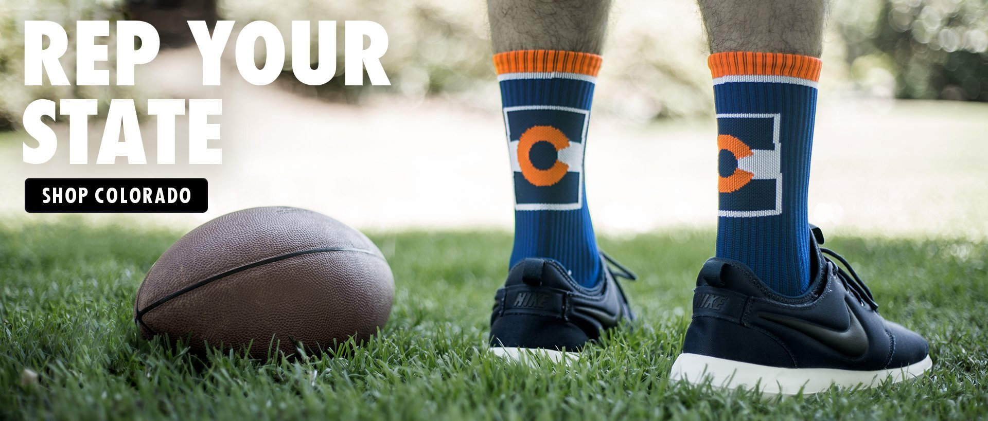 colorado socks, broncos socks, denver broncos socks, denver broncos, skyline socks, colorado stateline socks