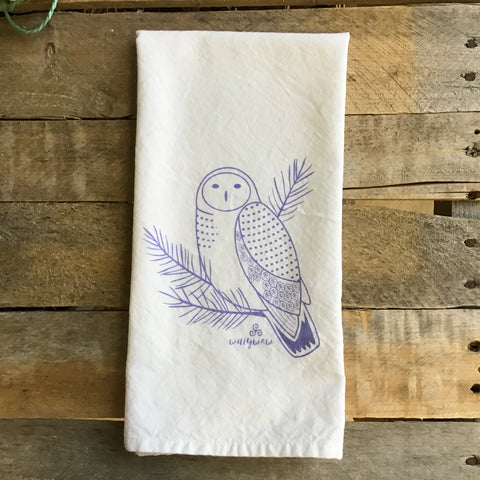 Snowy Owl Tea Towel