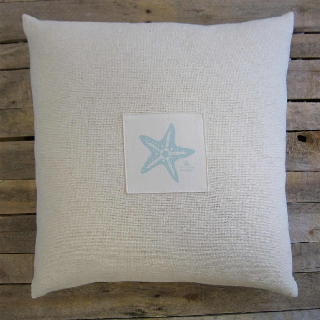 "Big Fluffy Pillow, Starfish, 19"" – Willywaw"