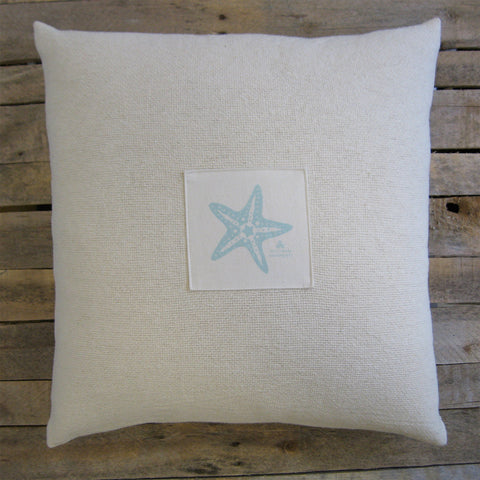 Big Fluffy Pillow with Starfish