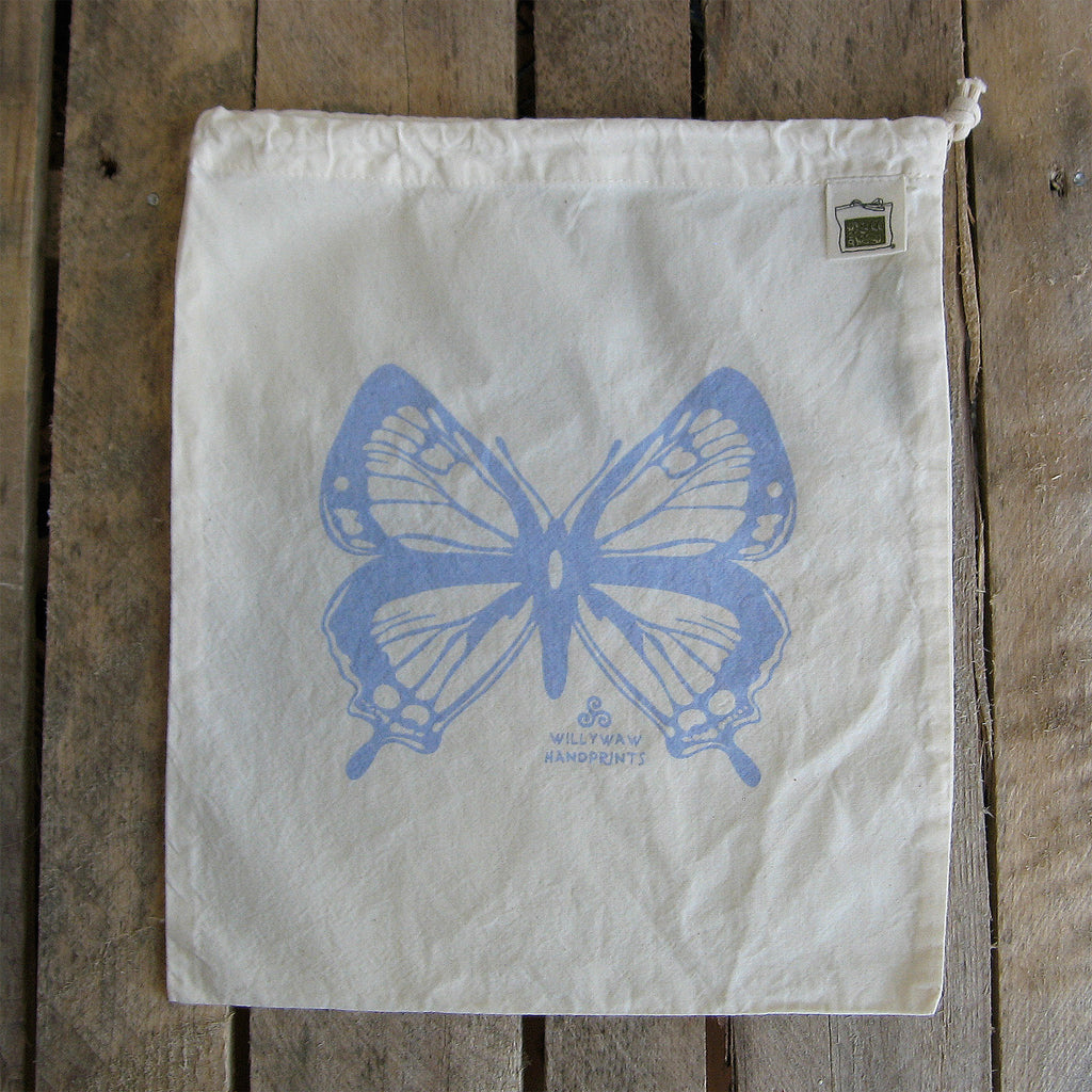 Medium Organic Cotton Ditty Bag - Butterfly