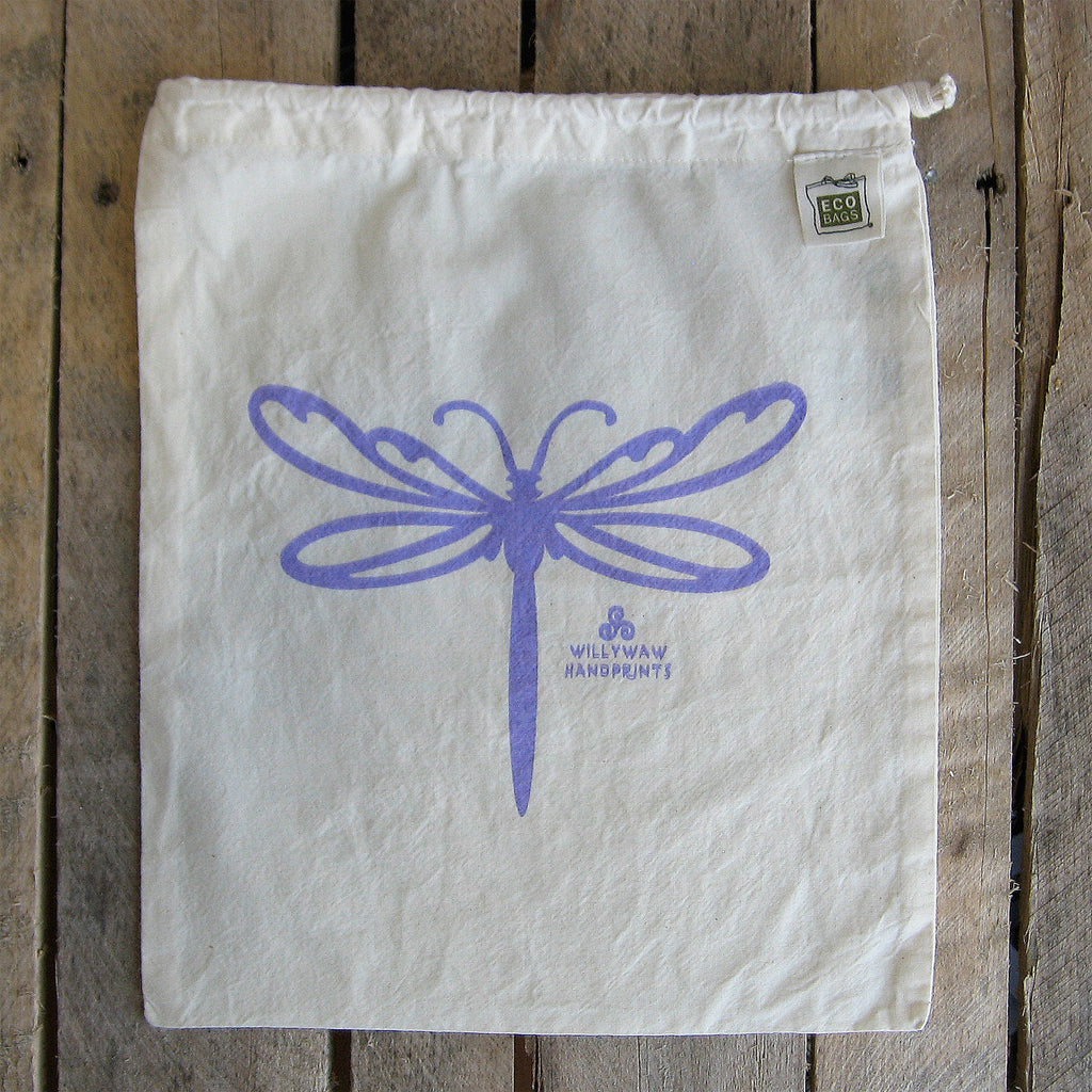 Medium Organic Cotton Ditty Bag - Dragonfly