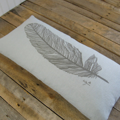 Feather Pillow, 12x24
