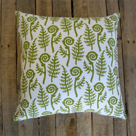 Fiddlehead Pillow, 18