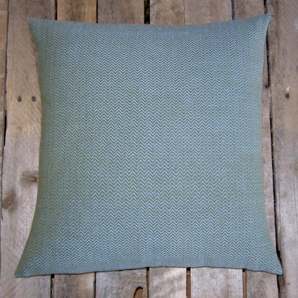 Handwoven Pillow - Mosstone and Heather