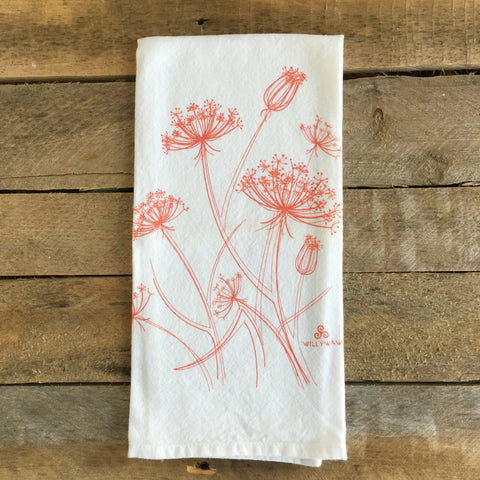 Wild Carrot Tea Towel